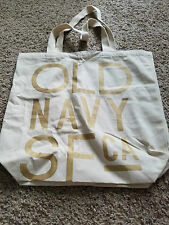 Old Navy SF CA canvas tote bag with gold letters
