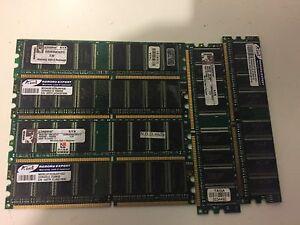 LOT OF 6 Mix Brand 512MB DDR1 Non ECC Desktop memory
