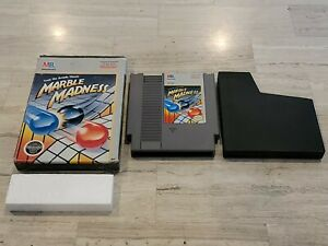 Marble Madness (Nintendo NES, 1989) Game & Box - Tested - Authentic
