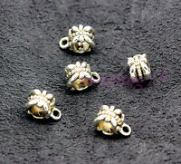 Tibetan Silver Spacer new Bail Beads Charms Jewelry Making 11x8mm  1g