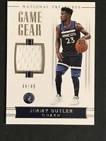 2017-18 NATIONAL TREASURES GAME GEAR JIMMY BUTLER RARE SP JERSEY PATCH /49