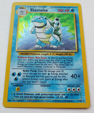Blastoise HOLO Pokemon Card Unlimited Base Set 2/102 NearMint- MINT Never Played
