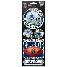 DALLAS COWBOYS PRISMATIC HOLOGRAPH STICKER DECAL SHEET OF 5 NFL FOOTBALL