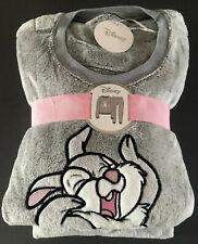 Disney Bambi Klopfer Hase Damen Pyjama Schlafanzug Fleece Hausanzug XS-S-M-L-XL