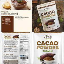Organic Cacao Powder Superior Criollo Beans Chocolate Bake Cookies 1 LB Bag NEW