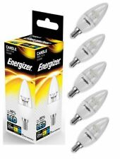 5x Energizer E14 SES Candle LED Light Bulb 250lm Clear 3.4W=25W Warm White 2700k