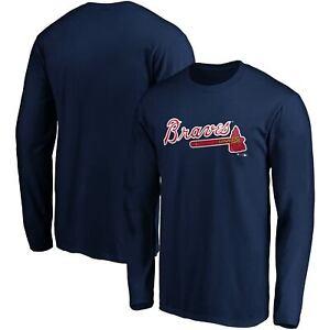 Atlanta Braves Fanatics Branded Official Wordmark Long Sleeve T-Shirt - Navy