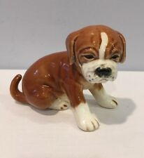 "VTG Rare Goebel Boxer Dog #41 Figurine 4-1/2"" Long Signed Bottom W. Germany"