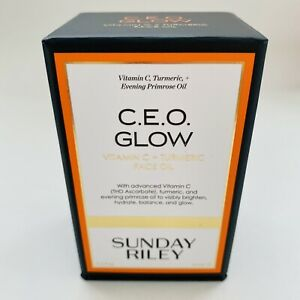 Sunday Riley CEO Glow Vitamin C Turmeric Face Oil 15mL0.5oz New Sealed Box