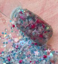 glitter mix acrylic gel nail art           A LITTLE SHY Limited Edition