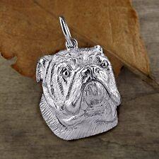 Sterling Silver BULLDOG Pendant or Charm