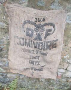 old jute sack, french hessian coffee sack, vintage, shabby, Ivory Coast