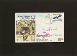 1983 RAF Escaping Society The Wooden Horse cover Multi signed