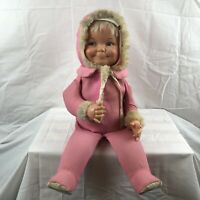 """Vintage 1968 Little Lost Baby Ideal 3 face changing doll 22"""" tall / 15"""" seated"""