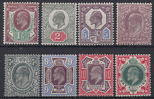 SG 287-314 Somerset House basic set of eight values and shades in mounted mint .