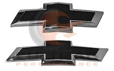 2016-2019 Chevrolet Camaro Genuine GM Front & Rear Black Bowtie Emblems 84219485