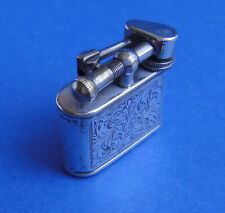 VINTAGE SILBER BENZIN FEUERZEUG LIFTARM PETROL POCKET LIGHTER BRIQUET