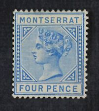 CKStamps: GB Montserrat Stamps Collection Scott#4 Unused NG Perf Spot Thin