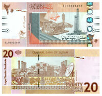 SUDAN 20 POUNDS BANKNOTE 2017 UNZ | SUDAN PAPER MONEY UNC | LE GRAND MINT-SHOP