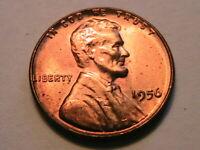 1956-P Original Choice Gem BU Red Blazer Lincoln Wheat Cent One Penny US Coin