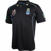 New South Wales NSW Blues State Of Origin Players Navy Polo Size S-M! 6