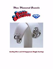 CHEAP Sterling Silver .925 and CZ Huggie Engagement Ring Huggie Earrings CHEAP!