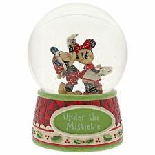 Jim Shore Heartwood Creek / Disney / Mickey & Minnie Xmas Waterglobe Mib 4060275