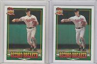 1991 Topps Glow Card Back UV Variant #5 Cal Ripken Jr Orioles Lot of 2