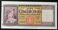 BANCONOTA LIRE 500 ORNATA DI SPIGHE ANNO 1961