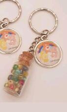 Care Bears Rainbow Bead Bottle Keyring Bag Charm Decoration Funshine Heart Gift