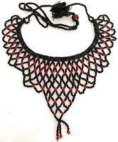 Statement Choker Necklace Handmade Glass Bead Womens Fashion Jewelry Boho Style