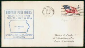 Mayfairstamps US EVENT 1959 COVER IOWA DES MOINES HPO STATE FAIR wwm17971