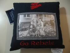 "9"" x 9"" plush Ole Miss Go Rebels pillow with picture insert, NEW"