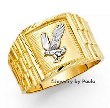 Mens Diamond Flying Eagle 14K Gold Ring  patriotic
