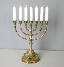 Menora Gold 7 Kerzen Kerzenleuchter Kerzenständer Davidleuchter Menorah Antik