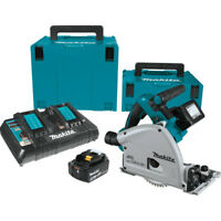 Makita 18V X2 5.0 Ah Li-Ion BL 6-1/2 in. Plunge Circular Saw XPS01PTJ New