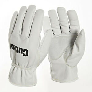 1 Pair Cutter Work Gloves Goatskin Leather Thermal Fleece Lined Padded (CW200)