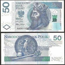 POLAND  50 Zlotych 2012 UNC P New