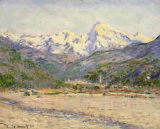 The Valley of the Nervia by Claude Monet 75cm x 61cm Canvas Print