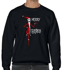 JACK SKELLINGTON Nightmare before Christmas Sandy Claws black sweater Unisex
