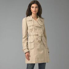 NWT $400 Juicy Couture Classic Khaki Tan Trench Coat Jacket Size Medium