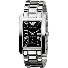 Emporio Armani Silver/Black Quartz Analog Women's Watch AR0156