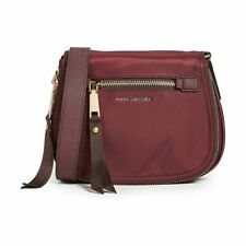 NWT MARC JACOBS Trooper Nomad Nylon Saddle Crossbody  Bag in Port Red Wine
