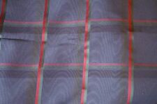 Kravet Fabric 1990s vintage Navy Blue Plaid -- Never Used NOS --stored on a roll