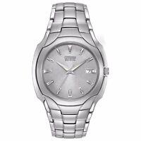 Citizen Eco-Drive Men's Silver-Tone Dial Bracelet 42mm Watch BM6010-55A
