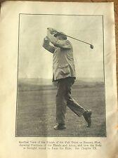 Antique Golf Memorabilia Photo of James Braid Golfing Print How to Play a Drive