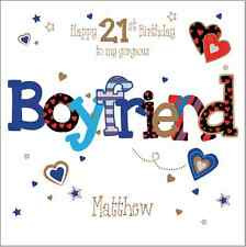 Personalised 21st birthday card boyfriend husband Any Age/Name/message