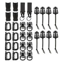 10 Pieces Tactical Gear Strap Clip for Molle Backpack Webbing Attachments D D8Q0