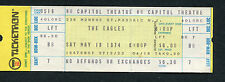 1974 Eagles Jesse Collin Young unused concert ticket Passaic Nj On The Border