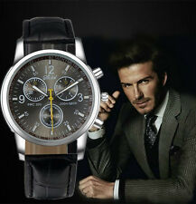 Men's/Teenagers Beckham Chronograph Designer Sports Watch With Leather Strap